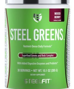 Steel Greens, Mixed Berry – 285 grams Health and Wellbeing UKTSG bodybuilding supplements