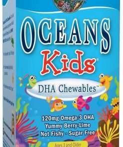 Oceans Kids DHA Chewables Omega-3, Berry Lime – 120 chewable softgels Health and Wellbeing UKTSG bodybuilding supplements