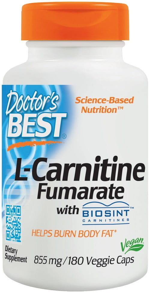 L-Carnitine Fumarate, 855mg – 180 vcaps Slimming and Weight Management UKTSG bodybuilding supplements