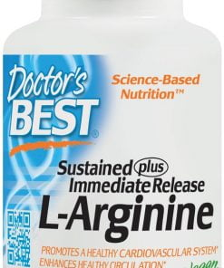 L-Arginine – Sustained + Immediate Release, 500mg – 120 tablets Amino Acids and BCAAs UKTSG bodybuilding supplements