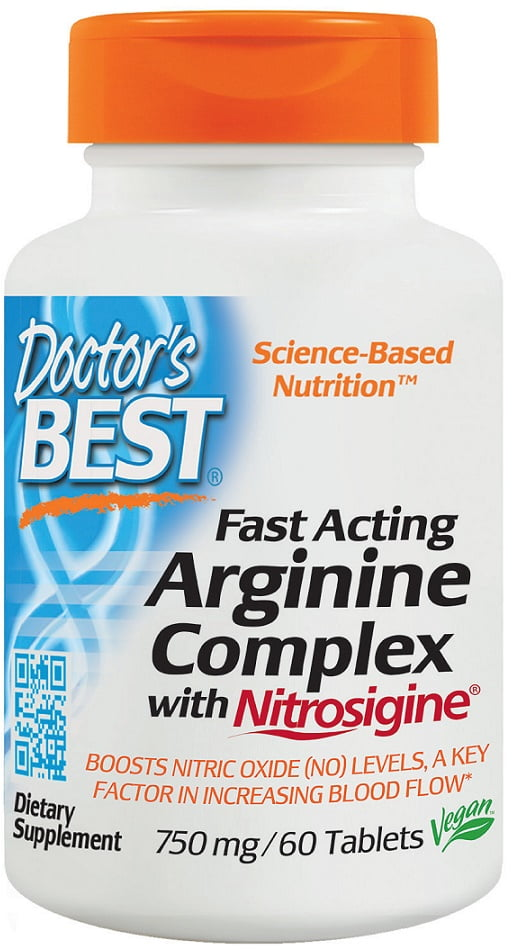 Fast Acting Arginine Complex with Nitrosigine, 750mg – 60 tablets Nitric Oxide Boosters UKTSG bodybuilding supplements