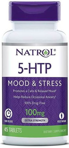 5-HTP Time Release, 100mg – 45 tablets Health and Wellbeing UKTSG bodybuilding supplements