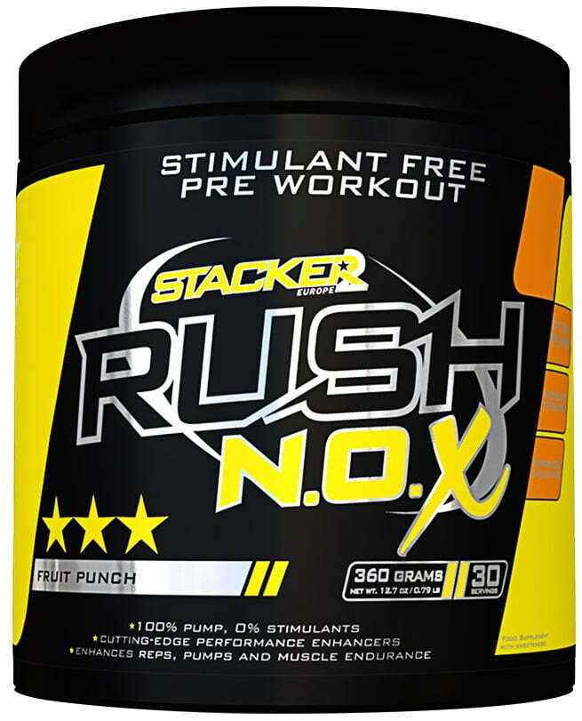 Rush N.O.X, Fruit Punch – 360 grams Nitric Oxide Boosters UKTSG bodybuilding supplements