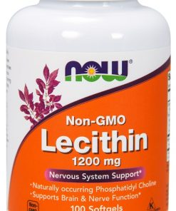Lecithin, 1200mg Non-GMO – 100 softgels Health and Wellbeing UKTSG bodybuilding supplements