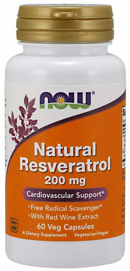 Natural Resveratrol with Red Wine Extract, 200mg – 60 vcaps Health and Wellbeing UKTSG bodybuilding supplements