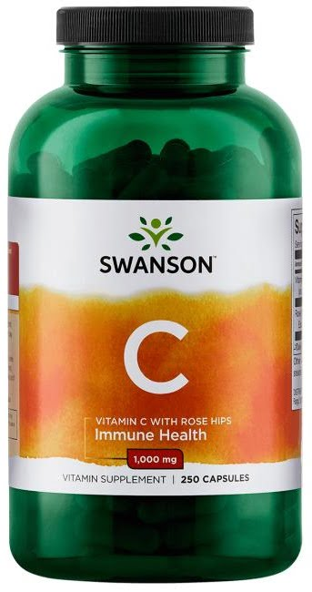 Vitamin C with Rose Hips Extract, 1000mg – 250 caps Vitamins & Minerals UKTSG bodybuilding supplements