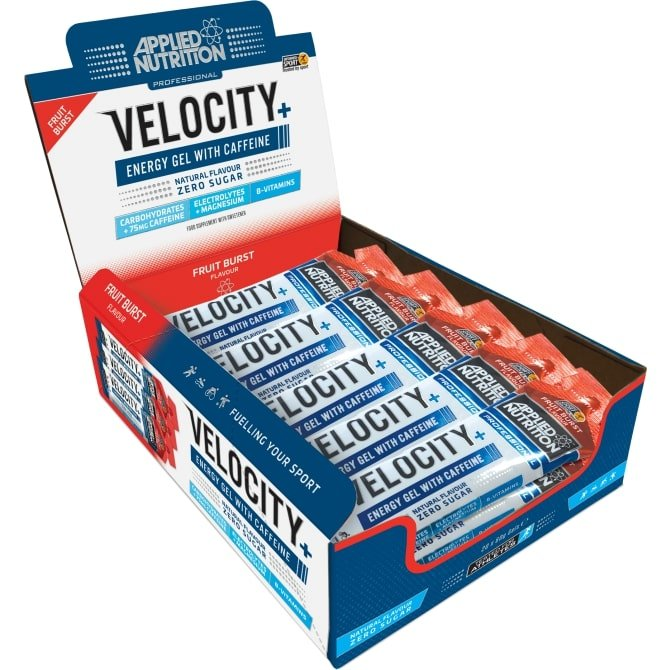 Velocity+ Energy Gel with Caffeine, Fruit Burst – 20 x 60g all products on buy tester UKTSG bodybuilding supplements