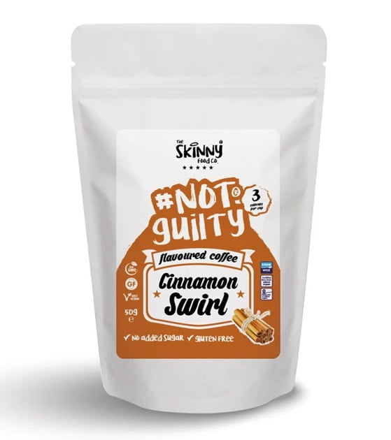 Not Guilty Flavoured Instant Coffee, Cinnamon Swirl – 50 grams Drinks and Shakes UKTSG bodybuilding supplements