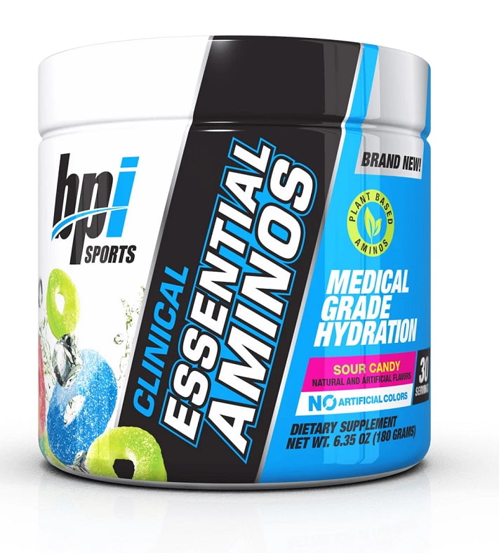 Clinical Essential Aminos, Sour Candy – 180 grams Amino Acids and BCAAs UKTSG bodybuilding supplements