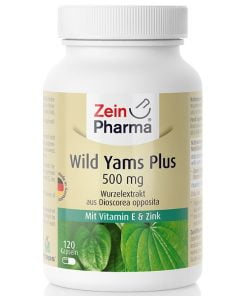 Wild Yams Plus, 500mg – 120 caps Health and Wellbeing UKTSG bodybuilding supplements