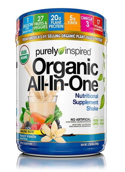 Organic All-In-One Meal, French Vanilla – 590 grams Health Foods UKTSG bodybuilding supplements