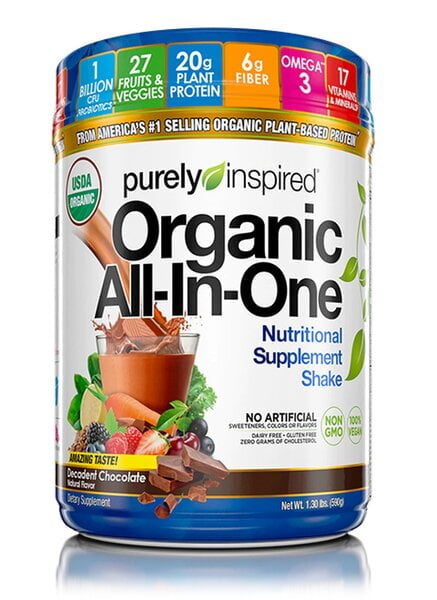 Organic All-In-One Meal, Decadent Chocolate – 590 grams Health Foods UKTSG bodybuilding supplements