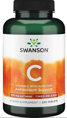 Vitamin C with Rose Hips – Timed-Release, 500mg – 250 tablets Vitamins & Minerals UKTSG bodybuilding supplements